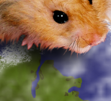 Happy Earth Day Hamster Sticker