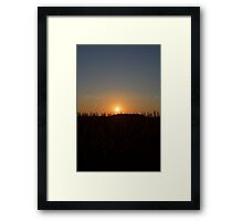 Evening Sunset # 5 Framed Print