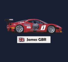 """James"" Red Italian Race Car - Kid's T-Shirt One Piece - Short Sleeve"