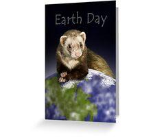 Earth Day Ferret Greeting Card