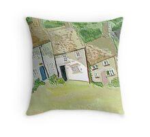 Hillside cottages Throw Pillow