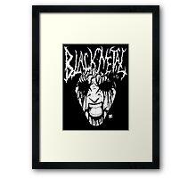 Black Metal Corpse Framed Print