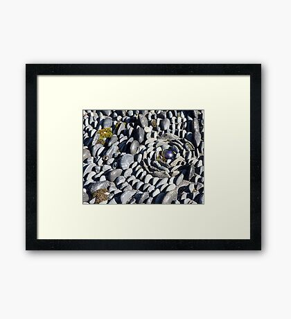 Off centre garden Framed Print