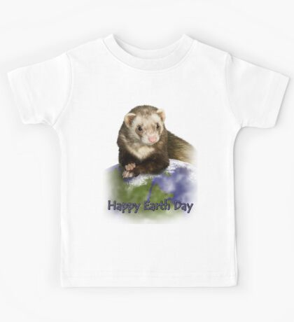 Happy Earth Day Ferret Kids Tee