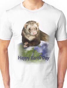 Happy Earth Day Ferret Unisex T-Shirt