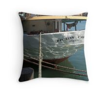 What a lovely stern you have....!  Throw Pillow