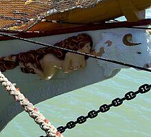Double Figurehead on Tall Ship...............!  by Roy  Massicks