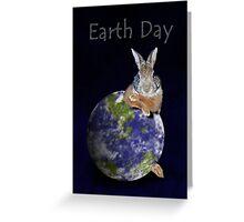 Earth Day Bunny Rabbit Greeting Card