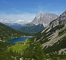 Sebensee and Zugspitze by Kat Simmons