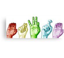 CTFxC in American Sign Language (Colors) Metal Print