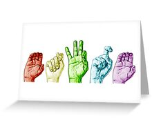 CTFxC in American Sign Language (Colors) Greeting Card