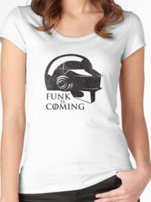 FUNK IS COMING Women's Fitted Scoop T-Shirt