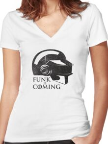 FUNK IS COMING Women's Fitted V-Neck T-Shirt