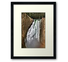Yellowstone River At  The Lower Falls 2 Framed Print
