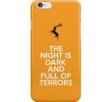 House Baratheon The Night Is Dark And Full Of Terrors iPhone Case/Skin