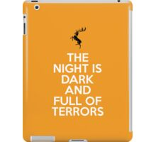 House Baratheon The Night Is Dark And Full Of Terrors iPad Case/Skin