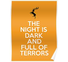 House Baratheon The Night Is Dark And Full Of Terrors Poster