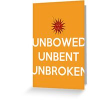 House Martell Unbowed Unbent Unbroken Greeting Card