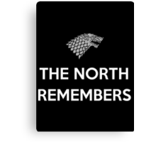 House Stark The North Remembers Canvas Print