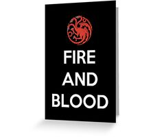 House Targaryen Fire And Blood Greeting Card