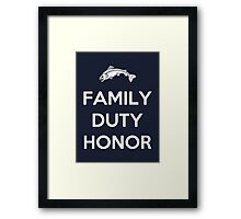 House Tully Family Duty Honor Framed Print