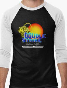 Double Strike Chicago River - Downtown Men's Baseball ¾ T-Shirt
