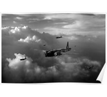Vickers Wellingtons black and white version Poster