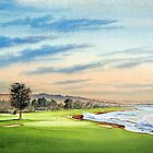 Pebble Beach Golf Course 18Th Hole by bill holkham