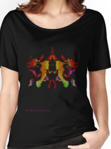 Ink Blot Fluro Red Women's Relaxed Fit T-Shirt