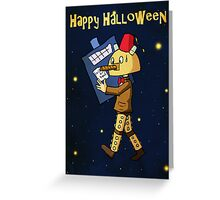 Halloween Doctor Who Card Greeting Card