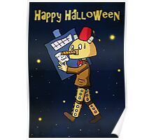Halloween Doctor Who Card Poster