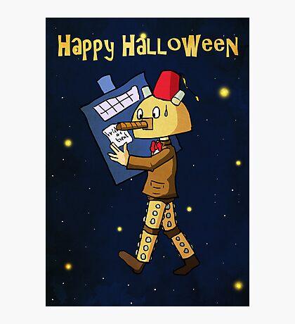 Halloween Doctor Who Card Photographic Print