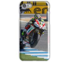 Toni Elias at Laguna Seca 2013 iPhone Case/Skin