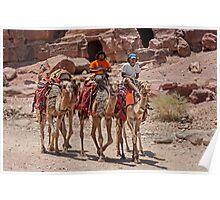 Bedouin at Petra. Poster
