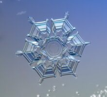 Snowflake Christmas card #1 Sticker