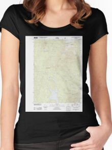 USGS Topo Map  Vermont VT Stratton Mountain 20120507 TM Women's Fitted Scoop T-Shirt