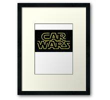 Car Wars - Start Wars Framed Print