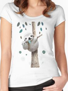Baby Sloth Daylight Women's Fitted Scoop T-Shirt