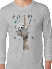 Baby Sloth Daylight Long Sleeve T-Shirt