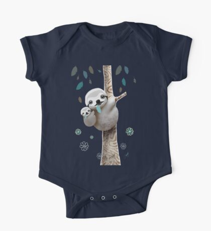Baby Sloth Daylight One Piece - Short Sleeve