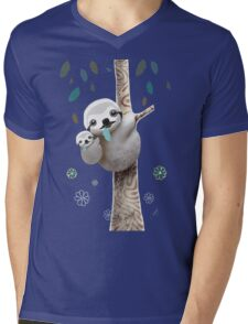 Baby Sloth Daylight Mens V-Neck T-Shirt