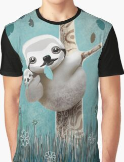 Baby Sloth Daylight Graphic T-Shirt