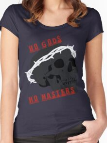 No Gods No Masters  Women's Fitted Scoop T-Shirt