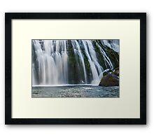 Upper McCloud Falls Framed Print