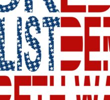 Backed by Populist Demand: Elizabeth Warren Sticker