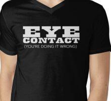 Eye Contact Mens V-Neck T-Shirt