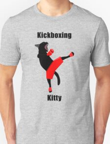 Kickboxing Kitty in vector T-Shirt