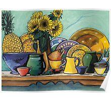 Ceramics Still Life Poster