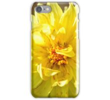 Yellow Dahlia iPhone Case/Skin