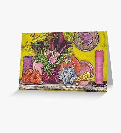 Waterlilies & Finger Limes Greeting Card